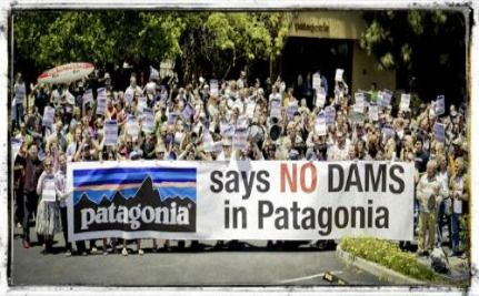 Patagonia Employees Protest New Dams In Patagonia, Chile