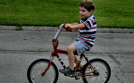 Hilarious Kid Gives Motivational Speech After Learning How To Ride A Bike (VIDEO)