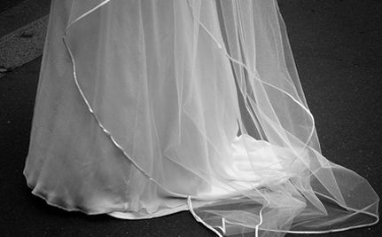 Wedding Dress Made From Life-Saving Silk Parachute