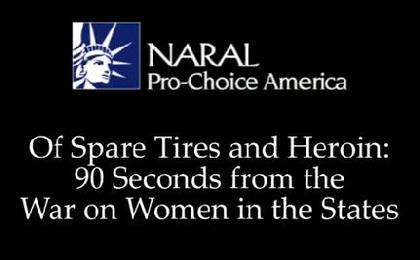 NARAL: 90 Seconds from the War on Women in the States
