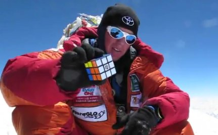 Why Solve A Rubik's Cube Atop Mt. Everest? Just Ask Charlie Wittmack (VIDEO)