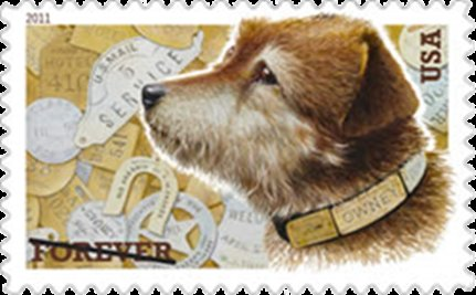 Mascot Mutt Gets Mug on Stamp
