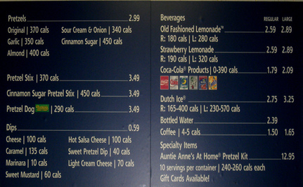 Calorie Labeling on Menus May Not Change Eating Habits