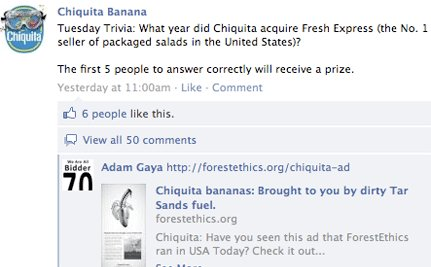 Activists Shut Down Chiquita Banana's Facebook Page