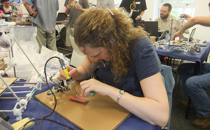 Girls Can Solder Too: Gadget Camp Teaches Manufacturing Skills