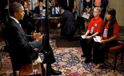 President Obama Interviewed By Two Scholastic Kid Reporters