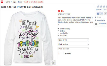 Girls' Reactions to the JC Penney Shirt: It's Insulting