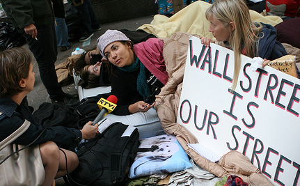 Hundreds Occupy Wall St. In Protest Of Broken Financial System