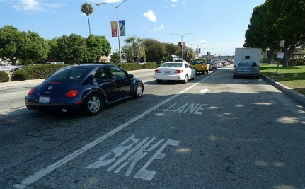 LA Eliminates Entire Car Lane For Safer Bike Travel