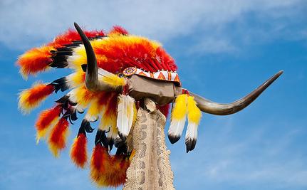 Native American Mascot Honored at High School