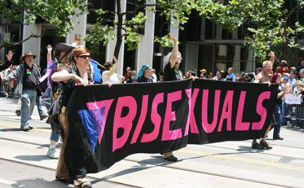 Bisexual erasure means