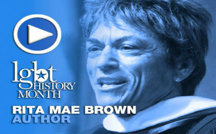Author Rita Mae Brown — LGBT History Month Day 7