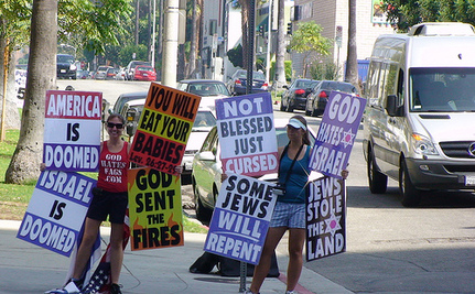 Tacky Westboro Church Protests Jobs Funeral (via iPhone)