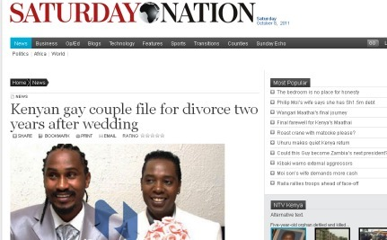 A Gay Divorce Catches Kenyan Attention