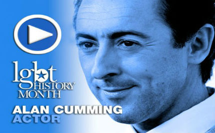 Actor Alan Cumming — LGBT History Month Day 10