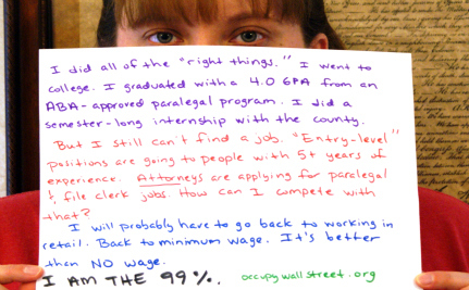 Who Are the 99 Percent? Occupy Wall St. Stories #8