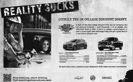 GM Pulls Offensive Ad Mocking College-Aged Cyclists