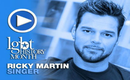 Singer Ricky Martin — LGBT History Month Day 22