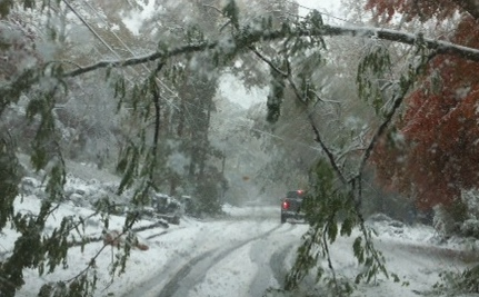 """A Pre-Halloween """"Treat"""": Lots of Snow For the East Coast"""