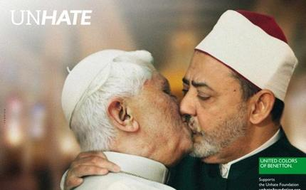 Benetton Pulls Pope Kissing Imam, India kissing Pakistan Posters in Ad Campaign (Video)