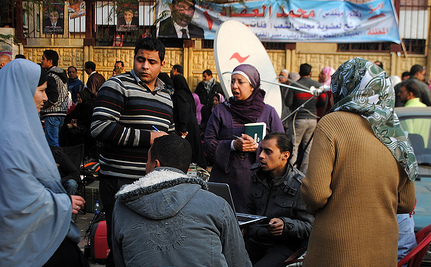 Islamists Ahead in Polls in Egyptian Elections