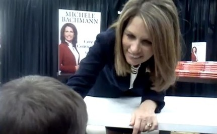 Kid Tells Bachmann: My Mommy is Gay, Doesn't Need Fixing (VIDEO)