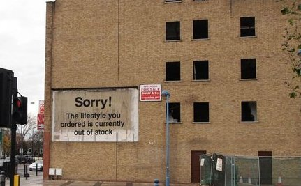 New Banksy Graffiti in London is Satirical Slap at Consumerism