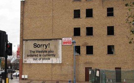 New Banksy Graffiti in London is Satirical Slap at Consumerism