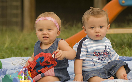 Identical Twin Boys Become Brother and Sister