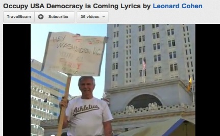 Leonard Cohen and the 99 Percent.  What Could Be Better?