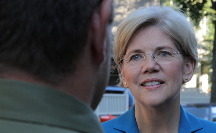 Warren Outraises Brown and Continues To Shake Hands