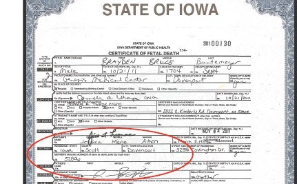 Iowa Erases Mother From Stillborn's Death Certificate