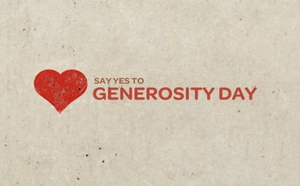 Happy Generosity Day!