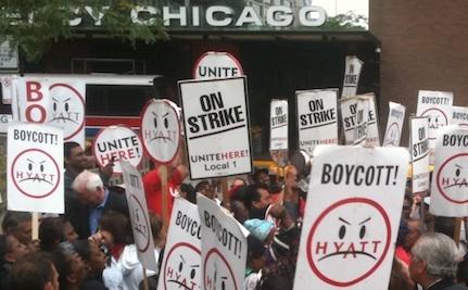 Faculty Demands Hyatt Reinstate Fired Housekeepers