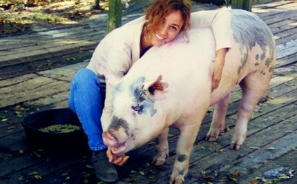 Woman Won't Let Pig Be Barbecued