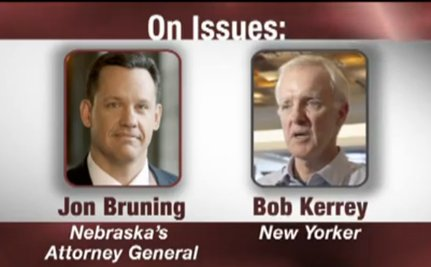 """Bruning Calls Kerrey A """"New York Liberal"""" In New Ad [VIDEO]"""