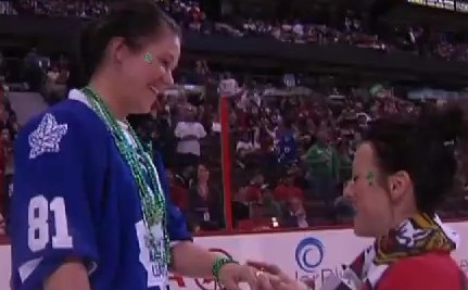 Love on Ice: Women Get Engaged at NHL Game (VIDEO)