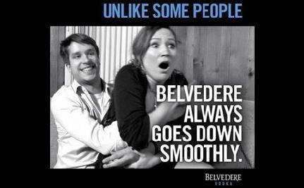 Belvedere Uses Rape to Sell Vodka