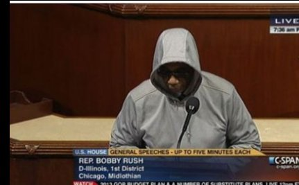 Congressman Dons Hoodie for Trayvon; Escorted Off House Floor