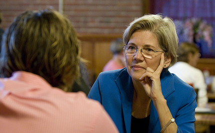 Warren Doubles Brown's 1st Quarter Fundraising Total