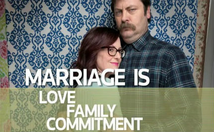 Megan Mullally & Nick Offerman Support Marriage Equality
