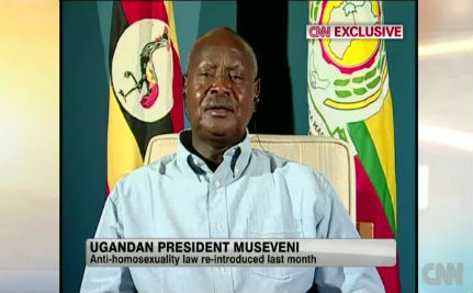 Museveni: Gays Don't Get Murdered in Uganda (VIDEO)