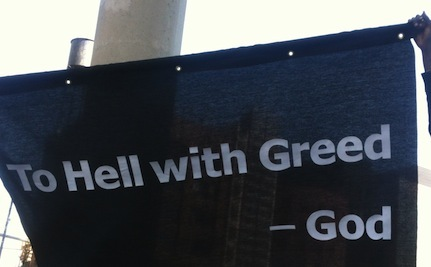 To Hell with Greed – Faith Leaders Criticize Global 1%