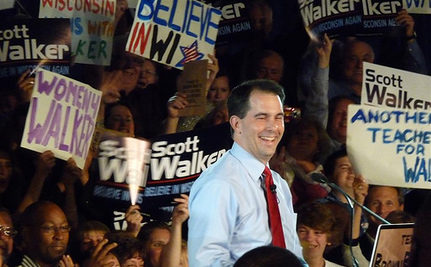Scott Walker Pledged To 'Divide And Conquer' Unions [Video]
