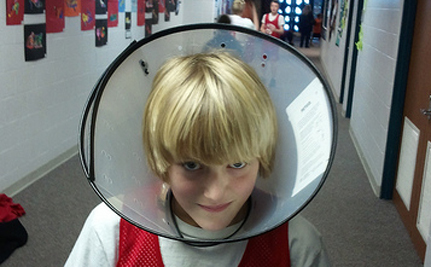 """Florida Teacher Forced Students To Wear """"Cone Of Shame"""""""