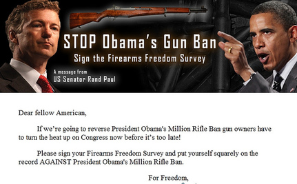 Rand Paul Points Gun At Obama