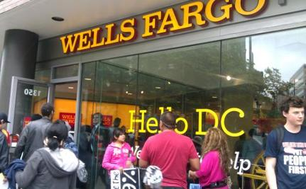 750 Activists Occupy Wells Fargo Branch In D.C.