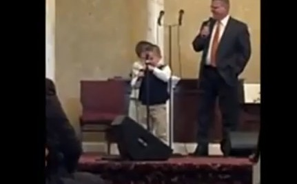 Kid Sings 'Ain't No Homos Gonna Make it to Heaven,' Congregation Wants More (VIDEO)