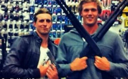 Gun Pose Gets Aussie Swimmers in Trouble