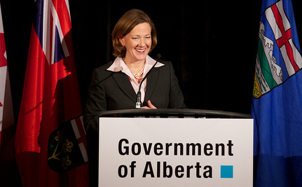 Premier Redford Defends Oil Sands As Oil Spill Gets Cleaned Up